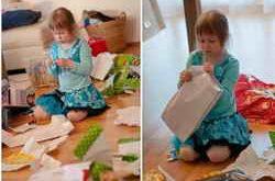 ребенок наводит порядок