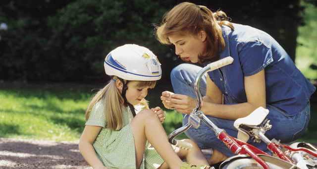 Велосипедная травма у ребенка