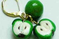 Серьги с яблоками