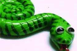 Змейка из полимерной глины