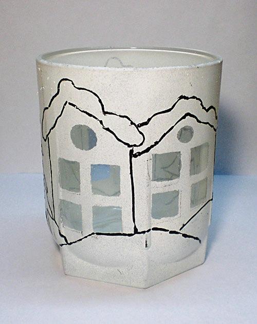 Подсвечник из стакана