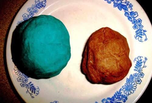 Цветное соленое тесто